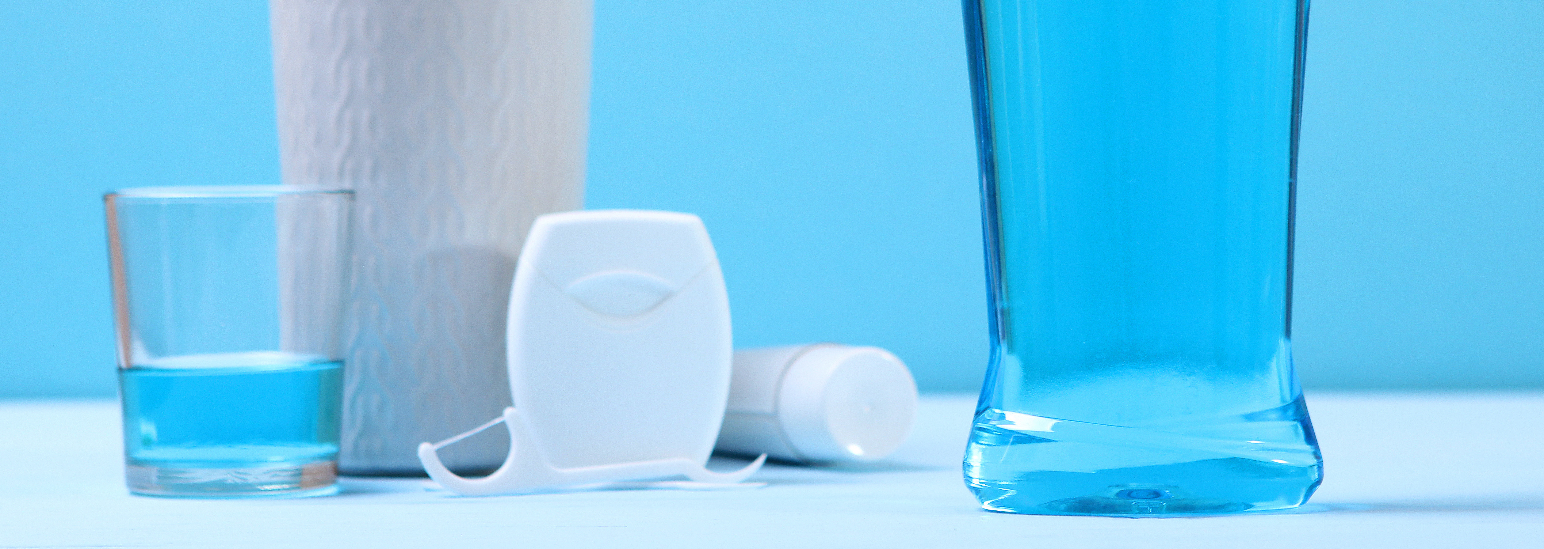 oral hygiene products like toothbrushes and mouthwash